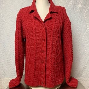 Paul James Cable Knit Cardigan-English Sweater